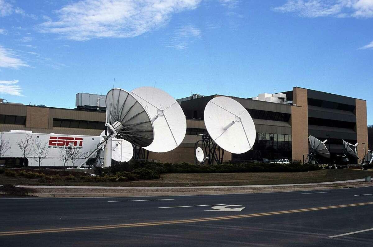 The ESPN TV dishes in Bristol.