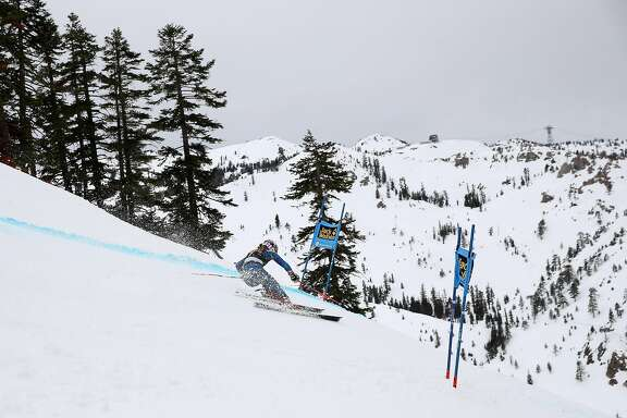 SQUAW VALLEY, CA - MARCH 10:  Mikaela Shiffrin of the United States competes in the first run of the Audi FIS World Cup Ladies' Giant Slalom on March 10, 2017 in Squaw Valley, California.  Shiffrin had the fasted time of the first run.  (Photo by Ezra Shaw/Getty Images)