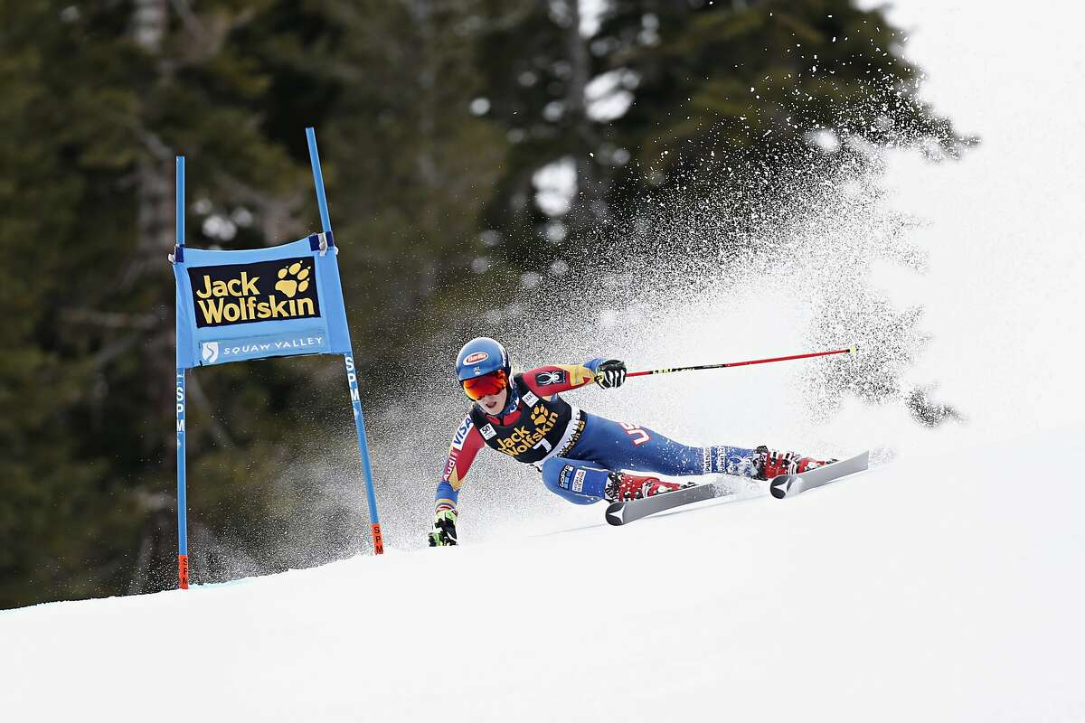 SQUAW VALLEY, CA - MARCH 10: Mikaela Shiffrin of USA competes during the Audi FIS Alpine Ski World Cup Women's Giant Slalom on March 10, 2017 in Squaw Valley, California (Photo by Alexis Boichard/Agence Zoom/Getty Images)