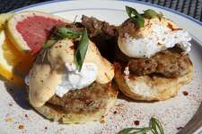 Tucker's Kozy Korner Address: 1338 E. Houston St., 210-320-2192, Facebook: Tucker's Kozy Korner Brunch Hours: 11 a.m.-3 p.m. Sunday Brunch menu price range: $10-$15