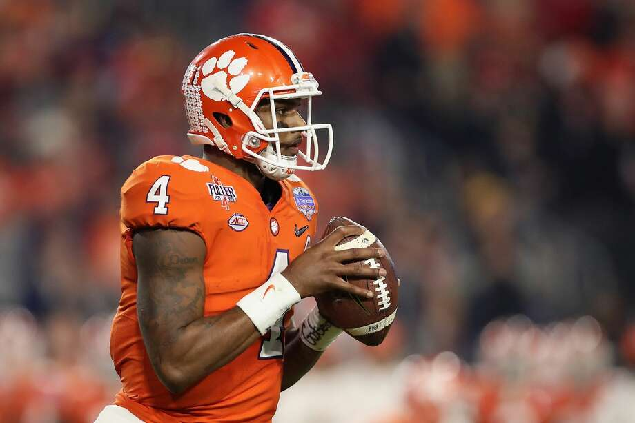 Clemson All-American quarterback Deshaun Watson is scheduled to visit the Texans as one of their official top 30 draft prospect meetings on Monday and Tuesday. Photo: Christian Petersen/Getty Images