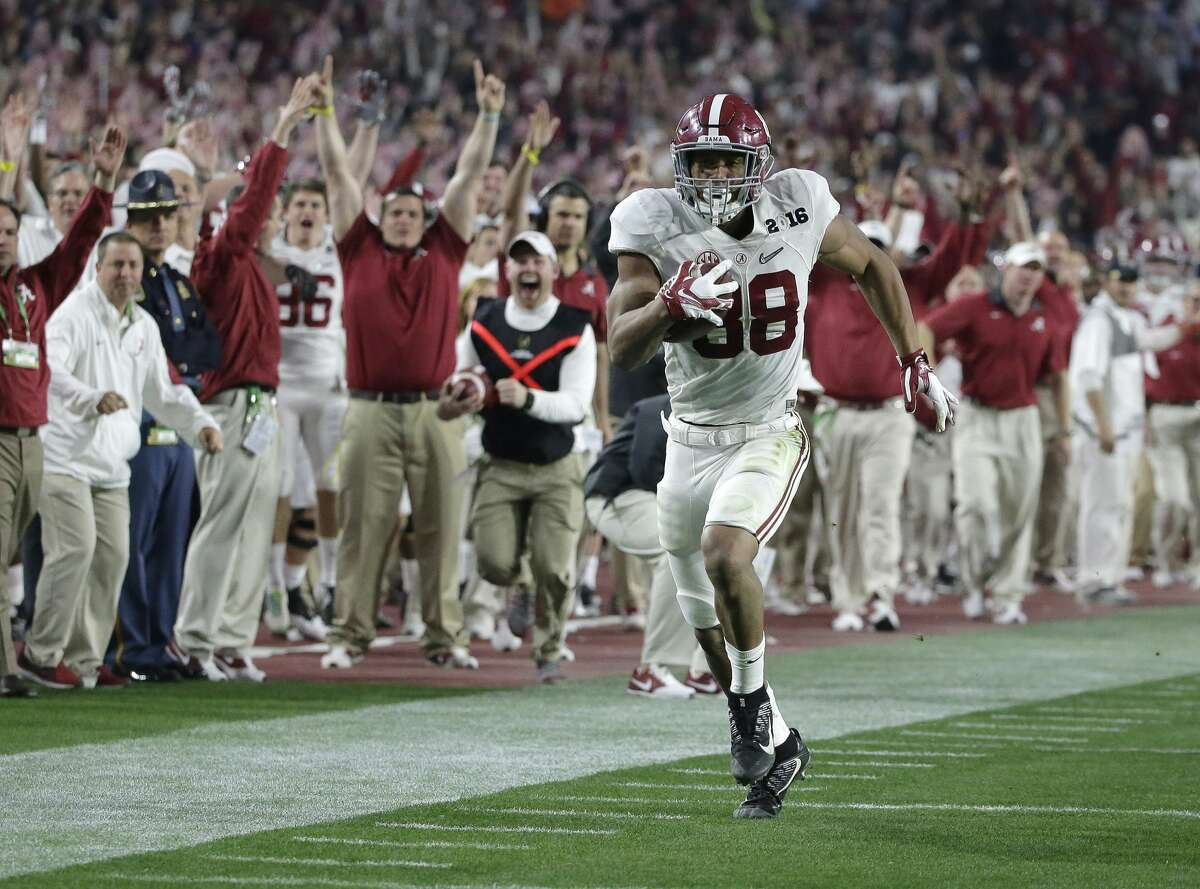 TOP FIVE O.J. Howard, 6-6, 251, 4.51, Alabama Former blue-chip recruit is an incredible athlete with prototypical size and athleticism, including long arms and big hands. However, his production hasn't always matched his vast talent. He caught 45 passes for 595 yards and three touchdowns last season for the Crimson Tide and earned some All-American and All-Southeastern Conference notice. As a junior, he caught 39 passes for 602 yards and was named the Offensive Most Valuable Player in the national championship with five catches for 208 yards and two scores. Howard is tough physically, but could stand to put on some more muscle in his upper body and do a better job as a blocker.