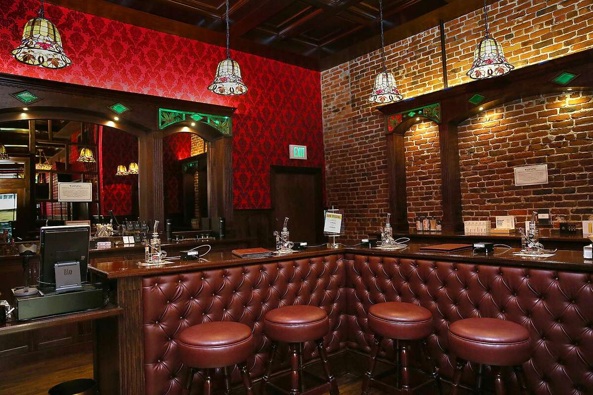Bar at the new Barbary Coast SF cannabis lounge on Friday, March 10, 2017, in San Francisco, Calif.