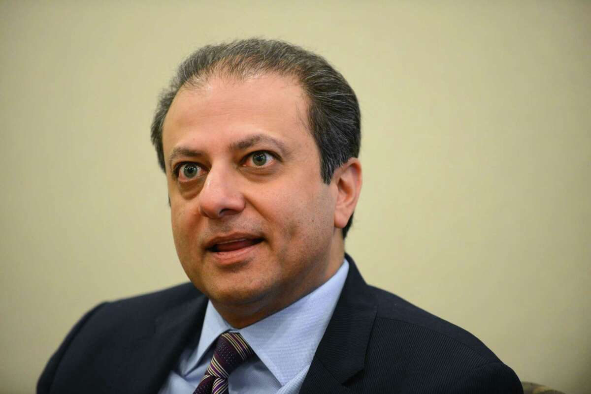 Preet Bharara: The former Manhattan U.S. attorney's long record of prosecuting public corruption is unlikely to win him much support from the Assembly, Senate or Gov. Andrew Cuomo.