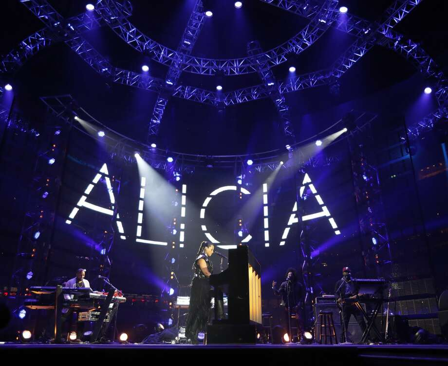 Alicia Keys performs at the Houston Livestock Show and Rodeo, at NRG Park, Friday, March 10, 2017, in Houston.  ( Karen Warren / Houston Chronicle ) Photo: Karen Warren/Houston Chronicle