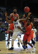 New Orleans guard Tevin Broyles (1) helped the Privateers defeat Sam Houston State to earn a matchup with Texas A&M Corpus Christi in the Southland final.