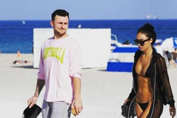 Johnny Manziel and girlfriend Bre Tiesi.