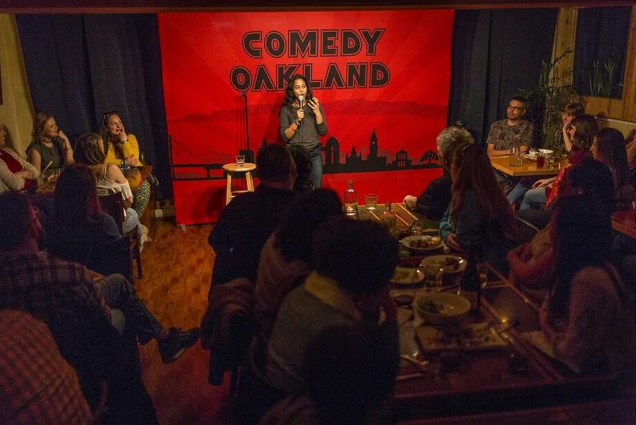Sureni Weerasekera performs on a recent Friday at Comedy Oakland. Photo: Eric Kayne, Special To The Chronicle