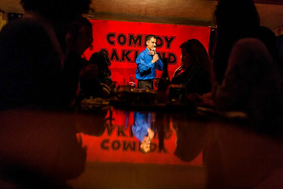 Samson Koletkar emcees and performs comedy Friday, March 10, 2017 in Oakland, CA during Comedy Oakland. Photo: Eric Kayne, Special To The Chronicle