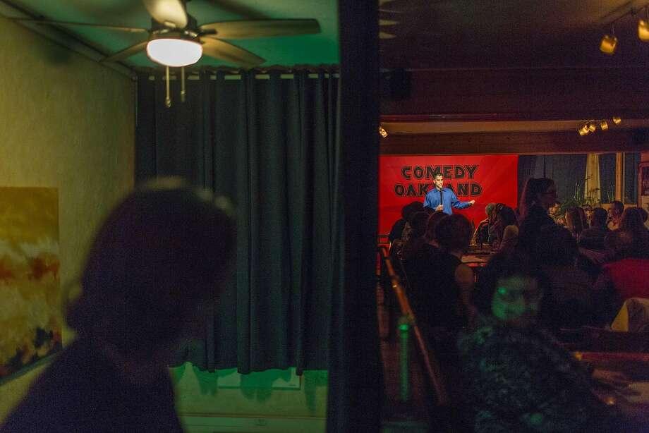 Samson Koletkar at Comedy Oakland. Photo: Eric Kayne, Special To The Chronicle