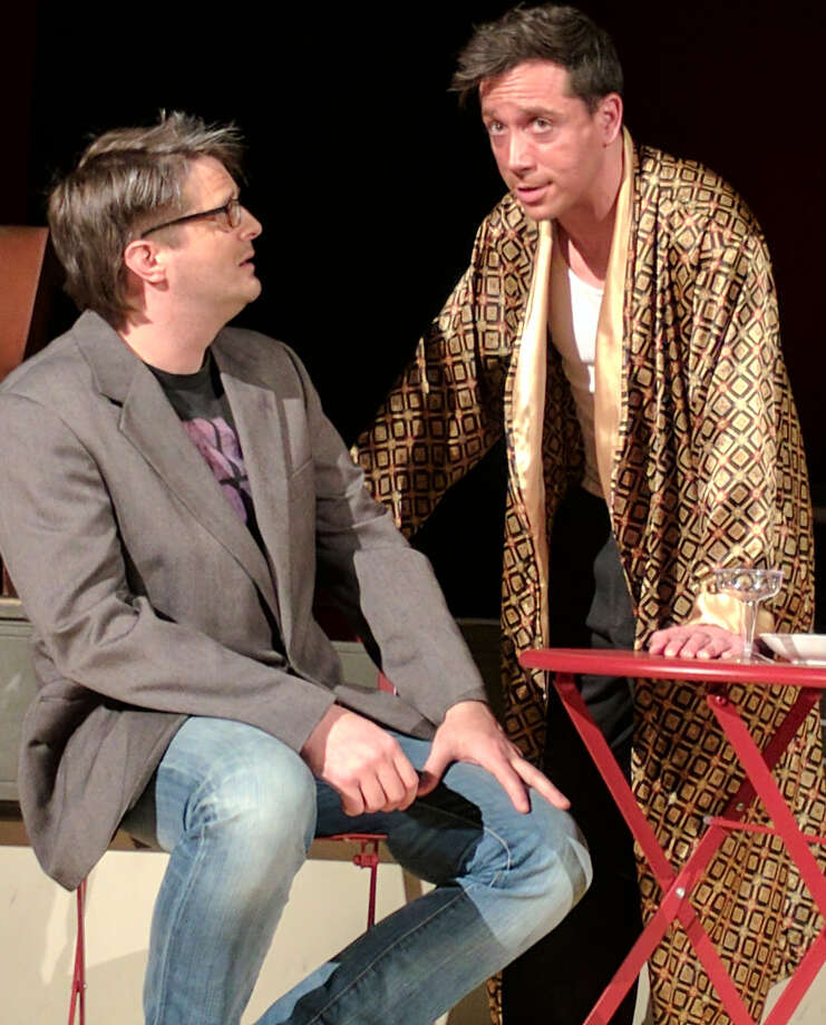 """Isaac Newberry, left, and Ian LaChance in """"The Picture of Dorian Gray"""" by Creative License at the Albany Barn. (Publicity by Casey Polomaine/Creative License)"""