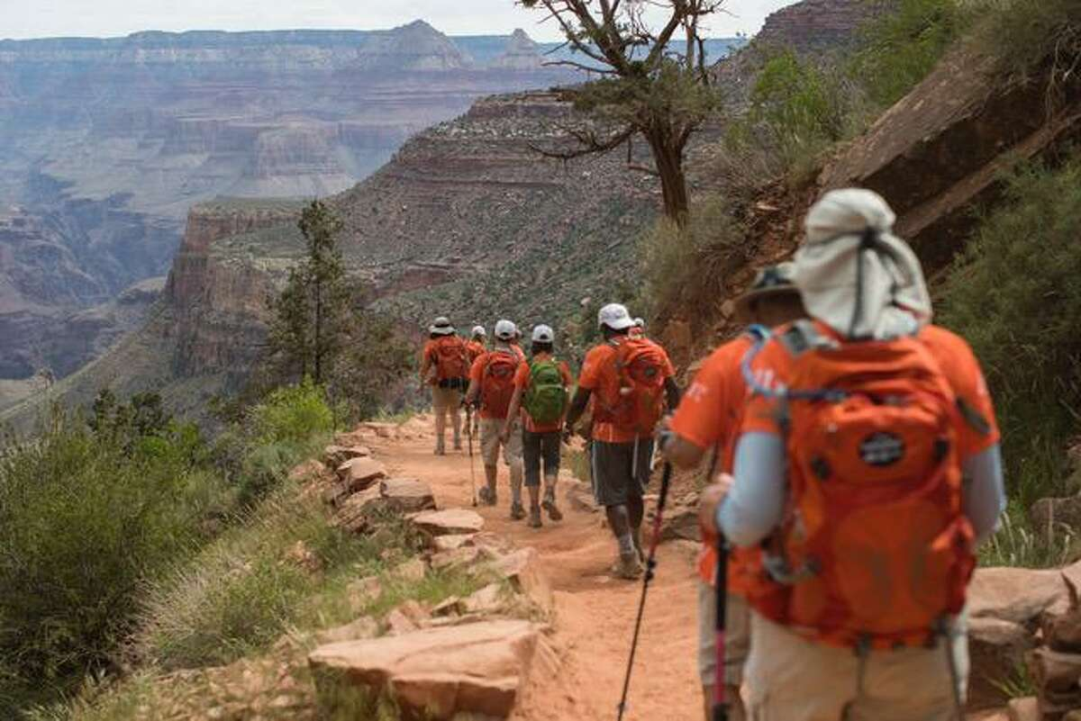 Fundraisers trek into the Grand Canyon during last year's Multiple Myeloma Research Foundation hike.