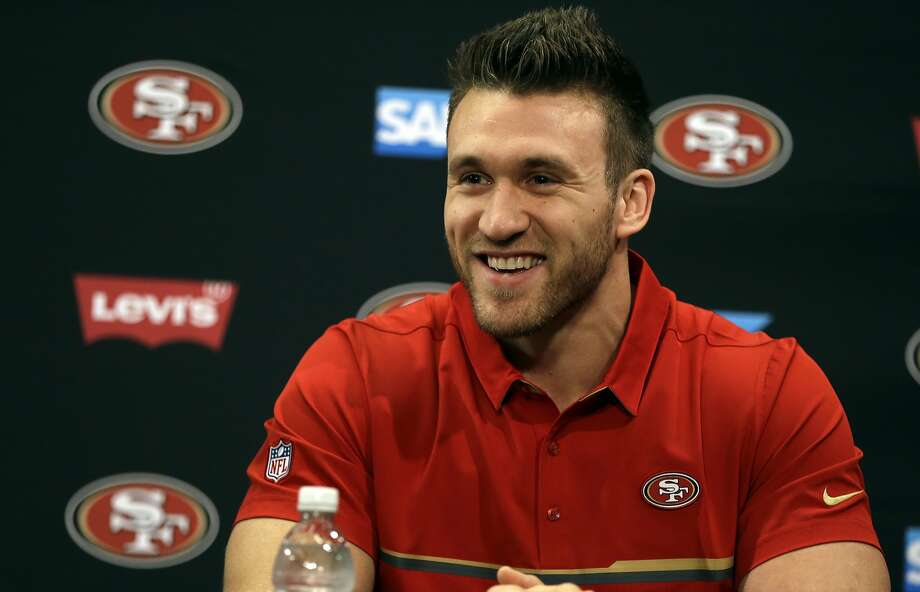 San Francisco 49ers' fullback Kyle Juszczyk smiles during a media conference Friday, March 10, 2017, in Santa Clara, Calif. (AP Photo/Ben Margot) Photo: Ben Margot, Associated Press