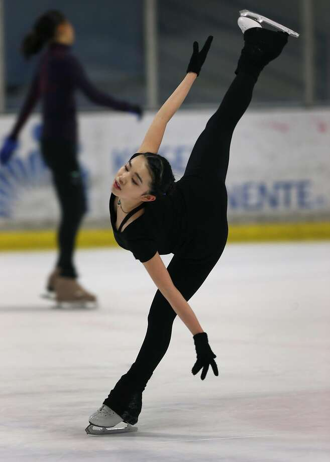 United States figure skating champion Karen Chen trains at the Sharks Ice skating rink in Fremont, Calif. on Saturday, March 11, 2017. Chen will be competing in the world championship in Finland beginning March 29. Photo: Paul Chinn, The Chronicle