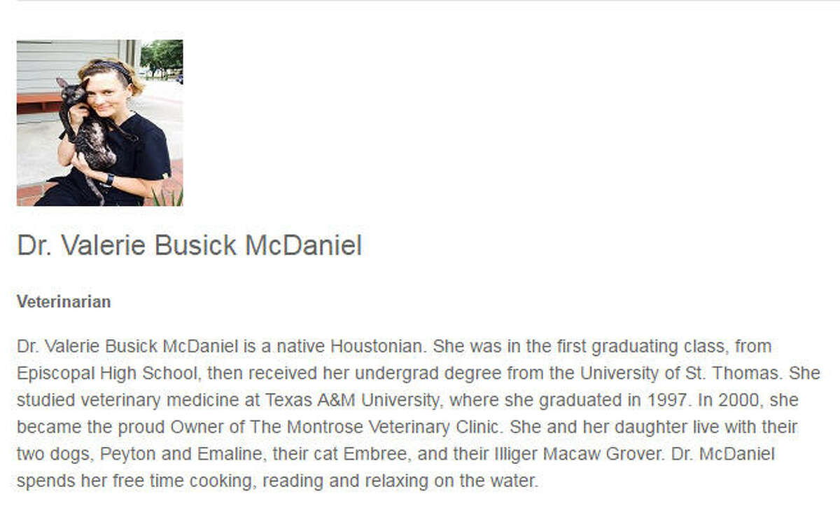 Houston native Valerie Busick McDaniel was a native of the Houston area and attended to high school and college in the city. She continued to live in Houston after graduation.