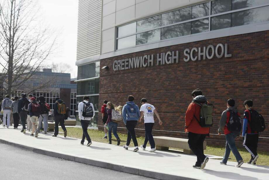 Data from a new state report show a gap widening as grades rise, becoming largest at Greenwich High School. Photo: Tyler Sizemore / Hearst Connecticut Media / Greenwich Time