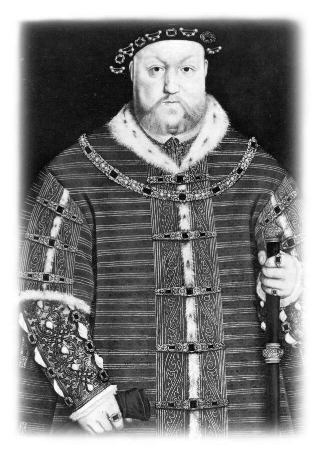 King Henry VIII of England is shown here in an undated portrait attributed to Hans Holbein. Henry VIII ascended the throne of England following the death of his father, Henry VII. (UNDATED ILLUSTRATION)  SOURCE: EXPRESS-NEWS FILE PHOTO / EXPRESS-NEWS FILE PHOTO