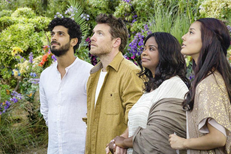 "From left, Jesus (Aviv Alush), Mack Phillips (Sam Worthington), Papa (Octavia Spencer) and Sarayu (Sumire Matsubara) are the focus of ""The Shack.""  / Lionsgate"