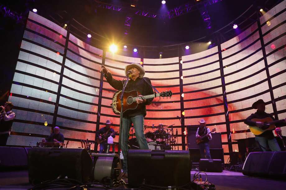 Alan Jackson performs after the RodeoHouston Super Series II, Round 2 Saturday, March 11, 2017, in Houston. ( Steve Gonzales  / Houston Chronicle ) Photo: Steve Gonzales/Houston Chronicle