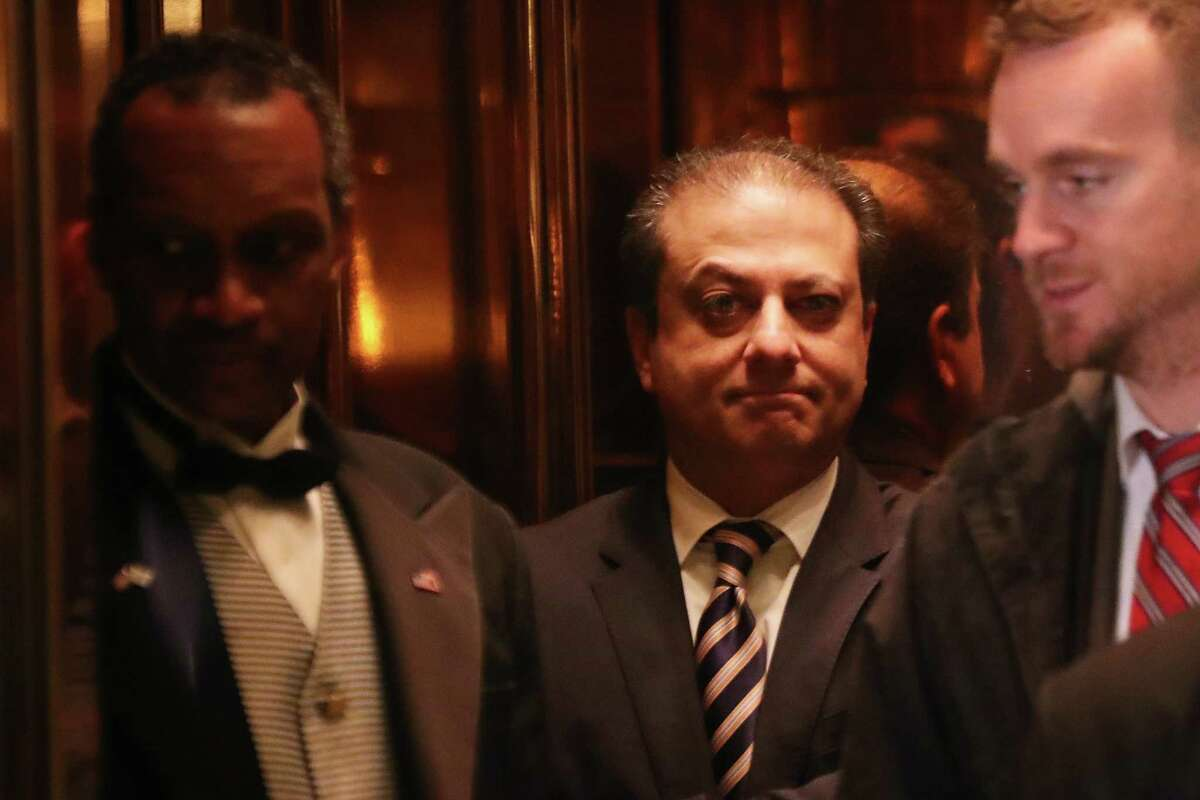 NEW YORK, NY - NOVEMBER 30: Preet Bharara, the top federal prosecutor in Manhattan, arrives at Trump Tower on November 30, 2016 in New York City. President-elect Donald Trump and his transition team are in the process of filling cabinet and other high level positions for the new administration. (Photo by Spencer Platt/Getty Images) ORG XMIT: 684695965