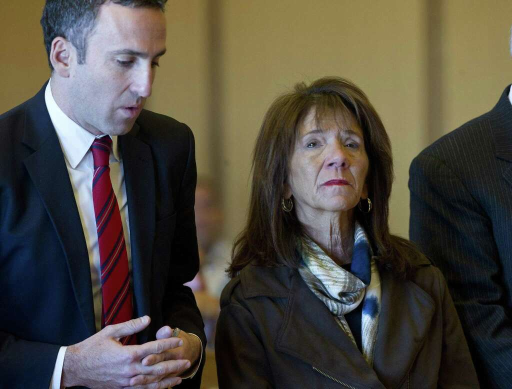 Former Stamford High Principal Donna Valentine, And One Of Her Attorneys,  Mark Sherman,