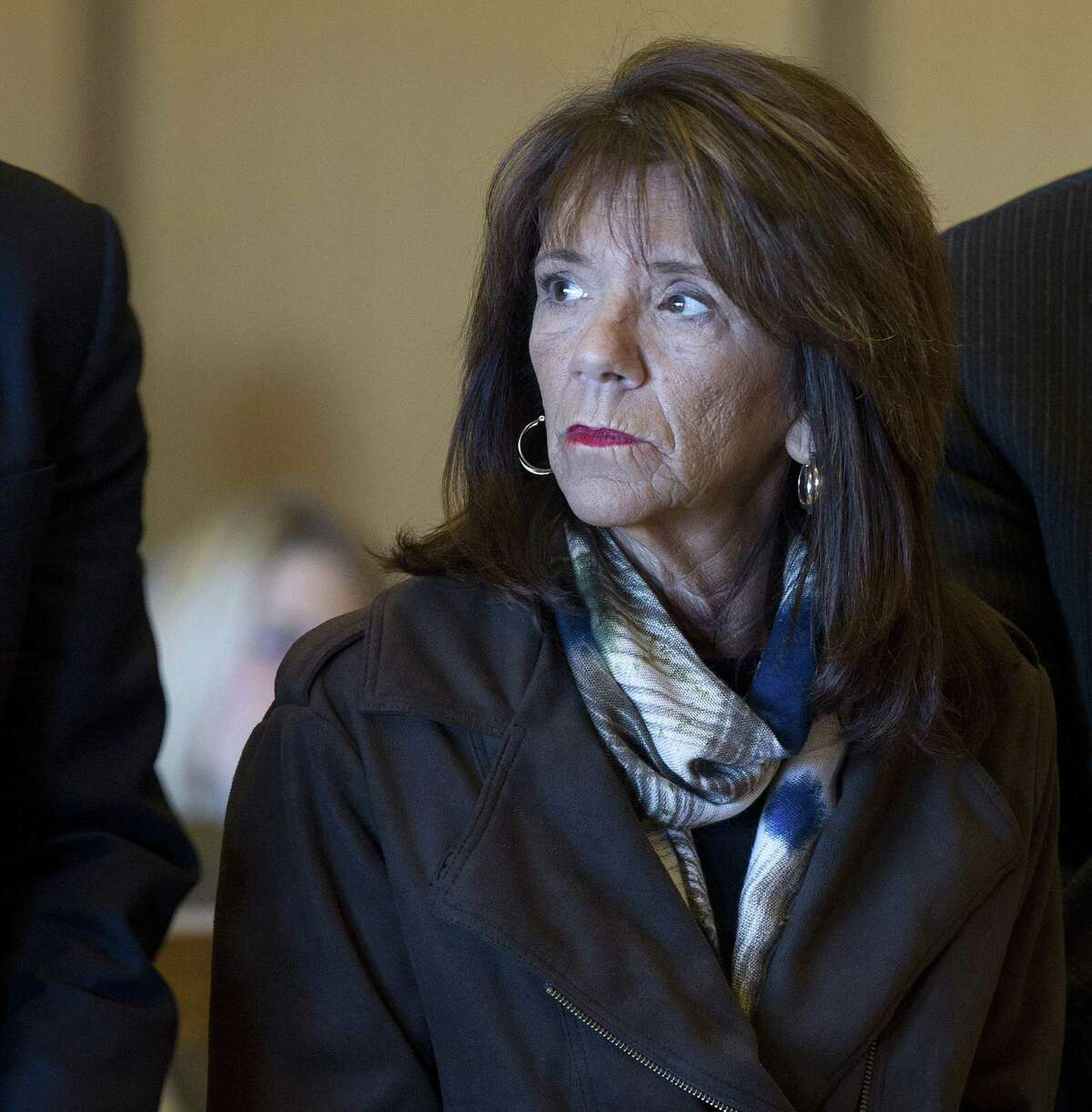 Stamford High School Principal Donna Valentine appears in State Superior Court in Stamford, Conn., on Tuesday, November 19, 2014, where she was granted accelerated rehabilitation.