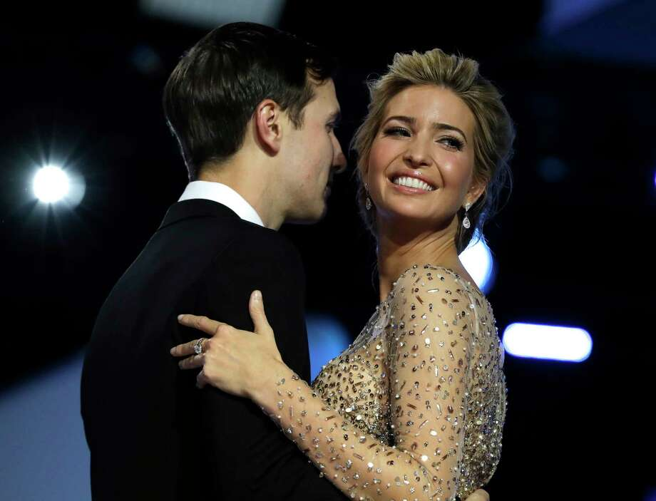 FILE - In this Friday, Jan. 20, 2017, file photo, Ivanka Trump and her husband Jared Kushner dance at the Freedom Ball, in Washington. Sales of Trump's products skyrocketed in early February, making her Lyst's 11th most popular brand. Photo: Evan Vucci, AP / Copyright 2017 The Associated Press. All rights reserved.