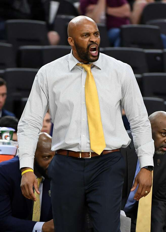 Cal coach Cuonzo Martin yells to his players during last week's Pac-12 tournament in Las Vegas. Martin resigned Wednesday after three years with the Bears. Photo: Ethan Miller, Getty Images