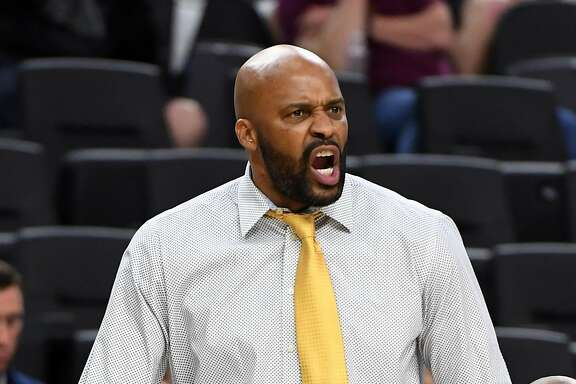 LAS VEGAS, NV - MARCH 09:  Head coach Cuonzo Martin of the California Golden Bears yells to his players during a quarterfinal game of the Pac-12 Basketball Tournament against the Utah Utes at T-Mobile Arena Arena on March 9, 2017 in Las Vegas, Nevada. California won 78-75.  (Photo by Ethan Miller/Getty Images)