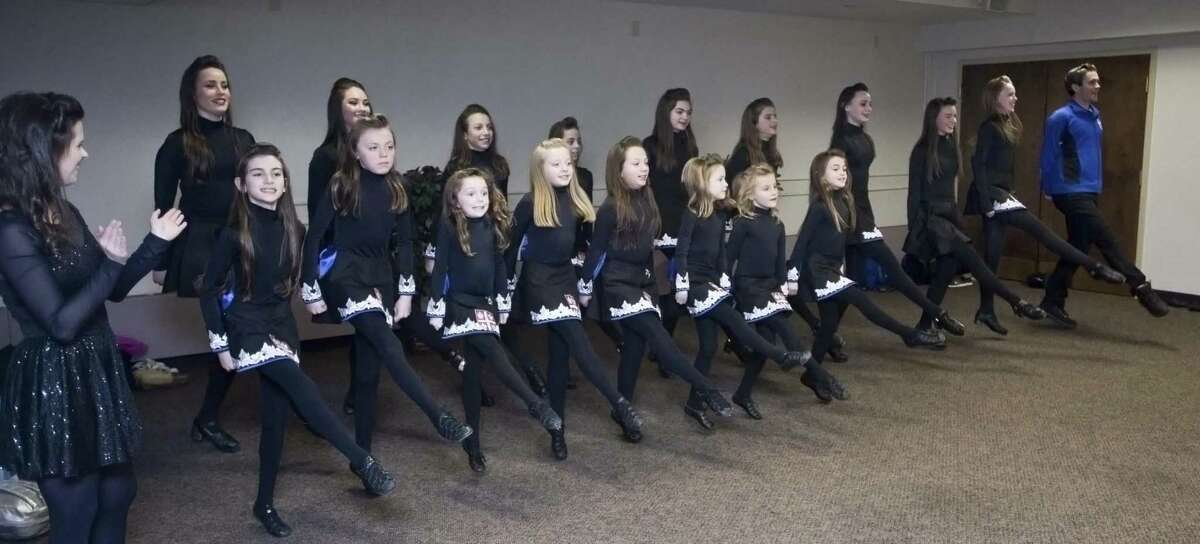 Dancers of The Ashurst Academy of Irish Dance, performing at the Danbury Library. Sunday, March 12, 2017