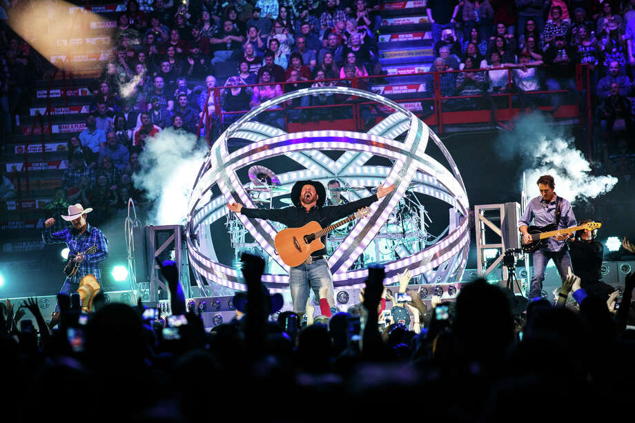 Garth Brooks performs Friday at the Times Union Center in Albany, the first of three nights of concerts with his wife, Trisha Yearwood. (Trudi Shaffer/Times Union) Photo: Trudi Shaffer / Times Union