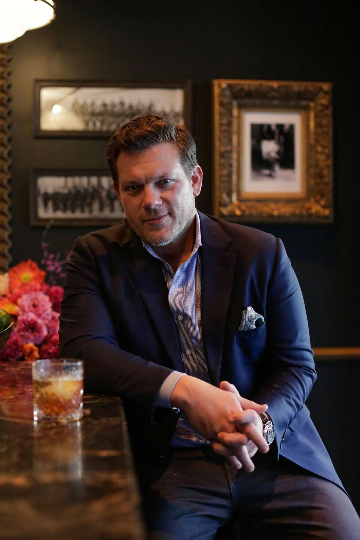 Chef and television host Tyler Florence sits for a portrait at the bar of Sequoia in the financial district of San Francisco, California, on Thursday, March 2, 2017.