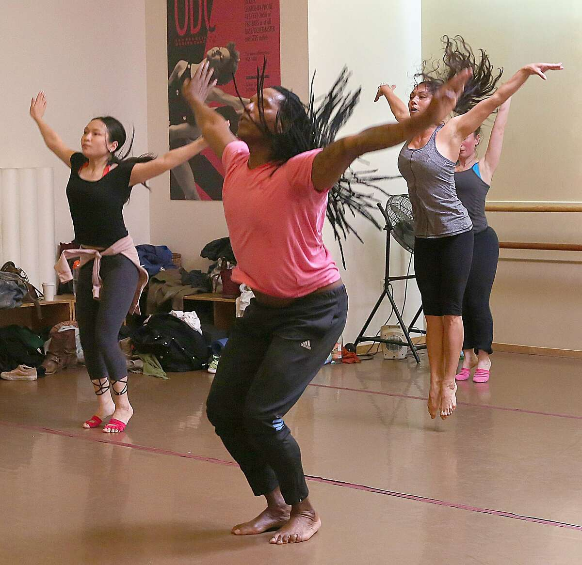 Ramon Ramos Alayo (front) teaches the Afro-Cuban modern dance class on Friday, March 10, 2017, in San Francisco, Calif. Alayo is the artistic director and co-founder of CubaCaribe, a dance organization which represents and spotlights the Bay Area's Cuban and Caribbean artists, dancers and community.
