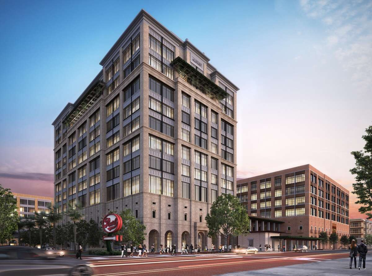 Renderings and designs released ahead of the March 15, 2017 meeting of the Historic and Design Review Commission show the proposed new office towers at The Pearl.