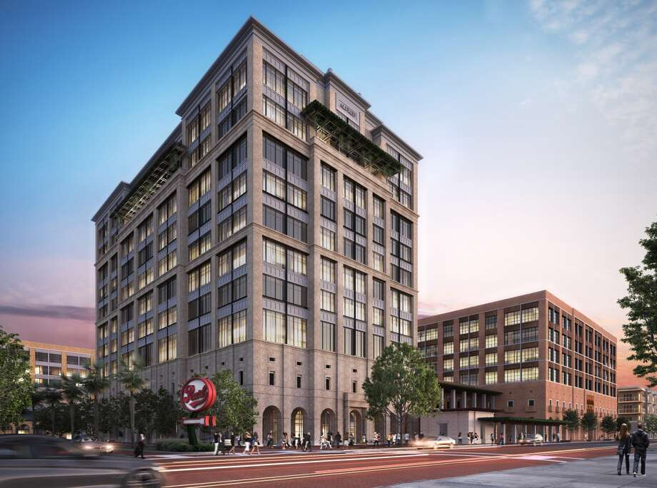 Renderings and designs released ahead of the March 15, 2017 meeting of the Historic and Design Review Commission show the proposed new office towers at The Pearl. Photo: Courtesy