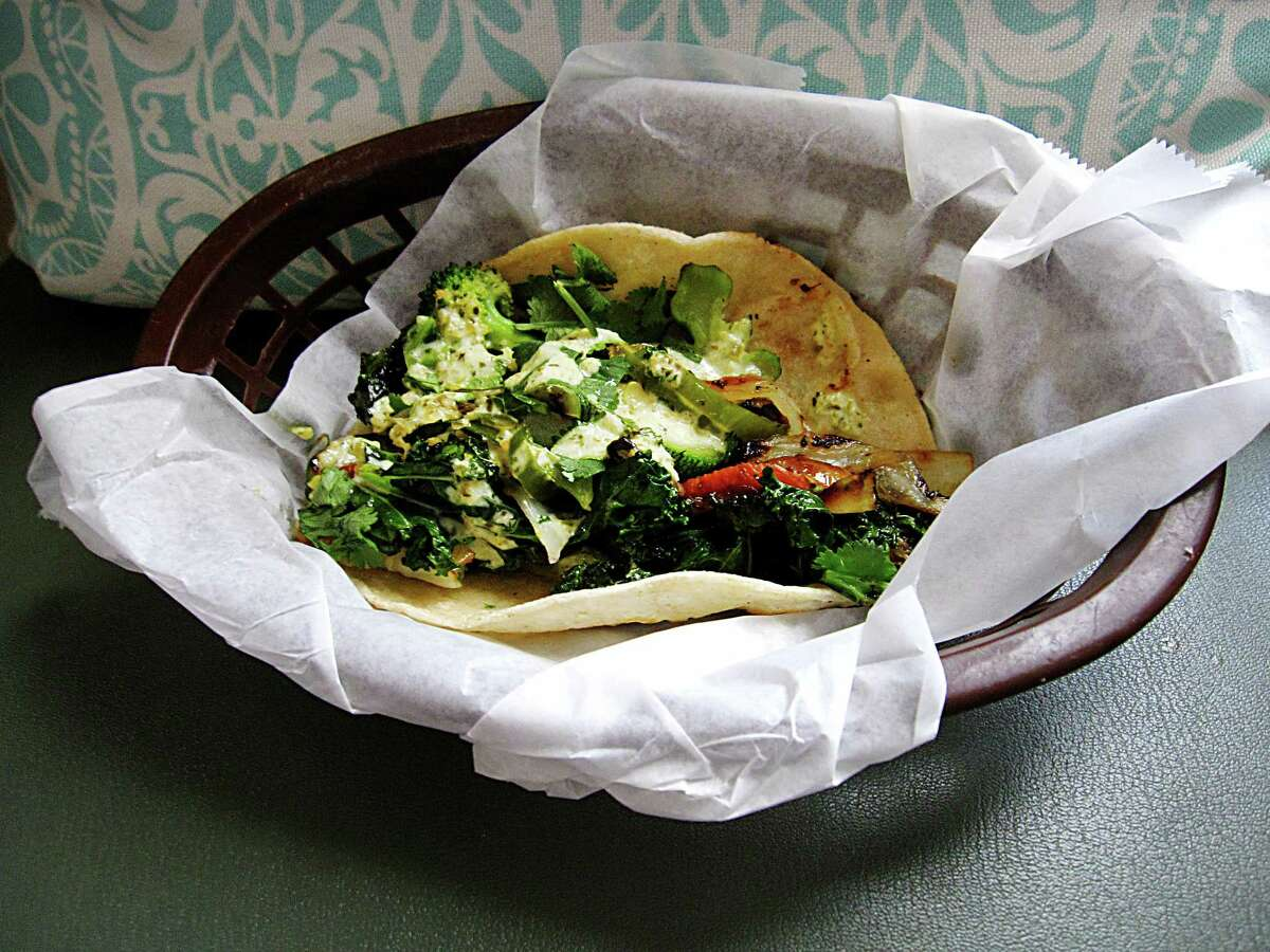 A veggie taco called the Grass Roots from Sabinas Coffee House.