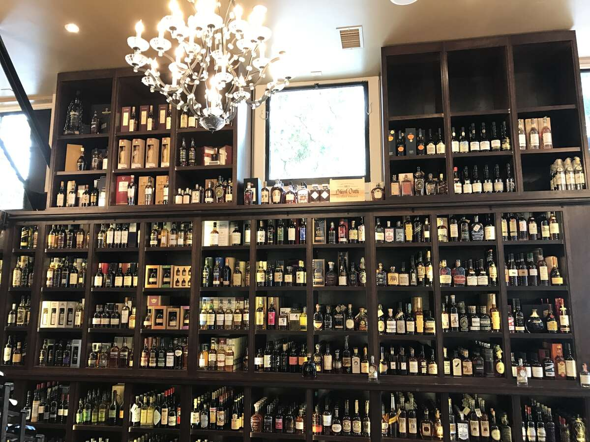 The spirits selection at Maison Corbeaux.
