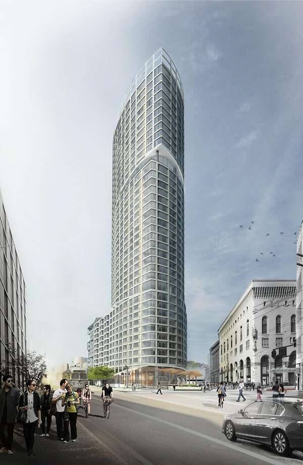The One Oak tower to be built at Market Street and Van Ness Avenue. Photo: Courtesy Build Inc.
