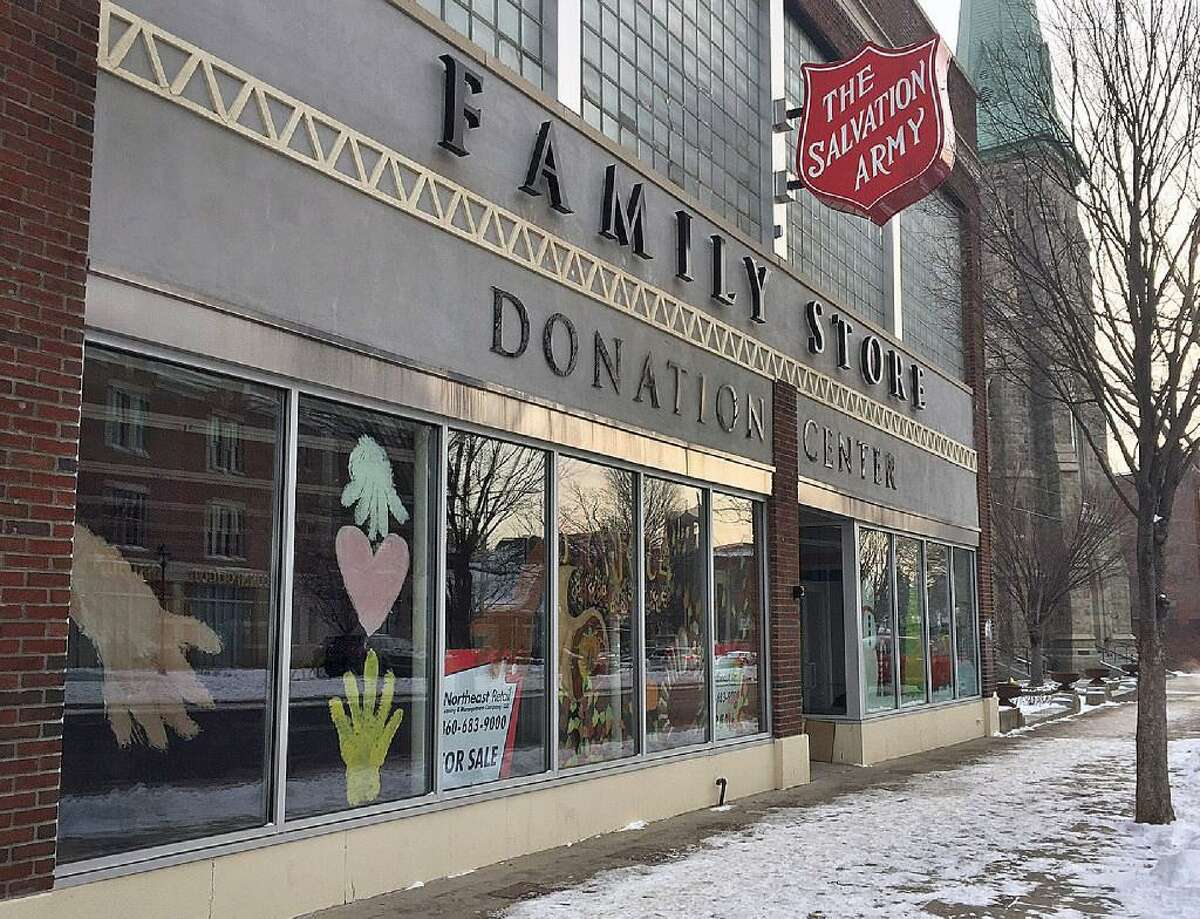 The former Salvation Army family thrift store in downtown Danbury is for sale, following the closure of the store last fall.