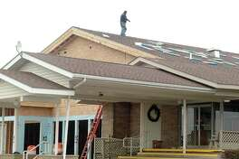Builders work on a 4,500-square-foot addition on the Cass City Missionary Church, which is located at 4449 Koepfgen Road, Cass City. Hopes are to have work on the Future Connections facility completed before Easter.