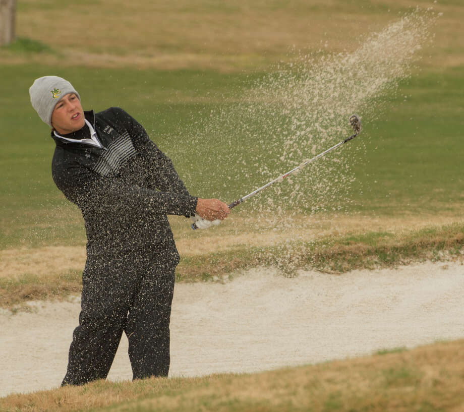 Midland College's Coleman Houston hits out of the sand 03-13-17 during the Omega Treating Chemicals College Invitational at Green Tree Country Club. Tim Fischer/Reporter-Telegram Photo: Tim Fischer/Midland Reporter-Telegram