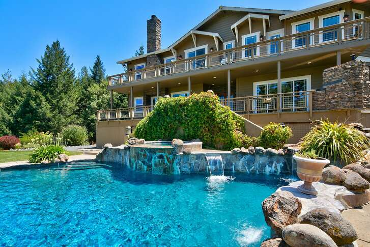 480 Fircrest Drive in Ukiah is a five-bedroom in the hills of Mendocino County available for $1.599 million.