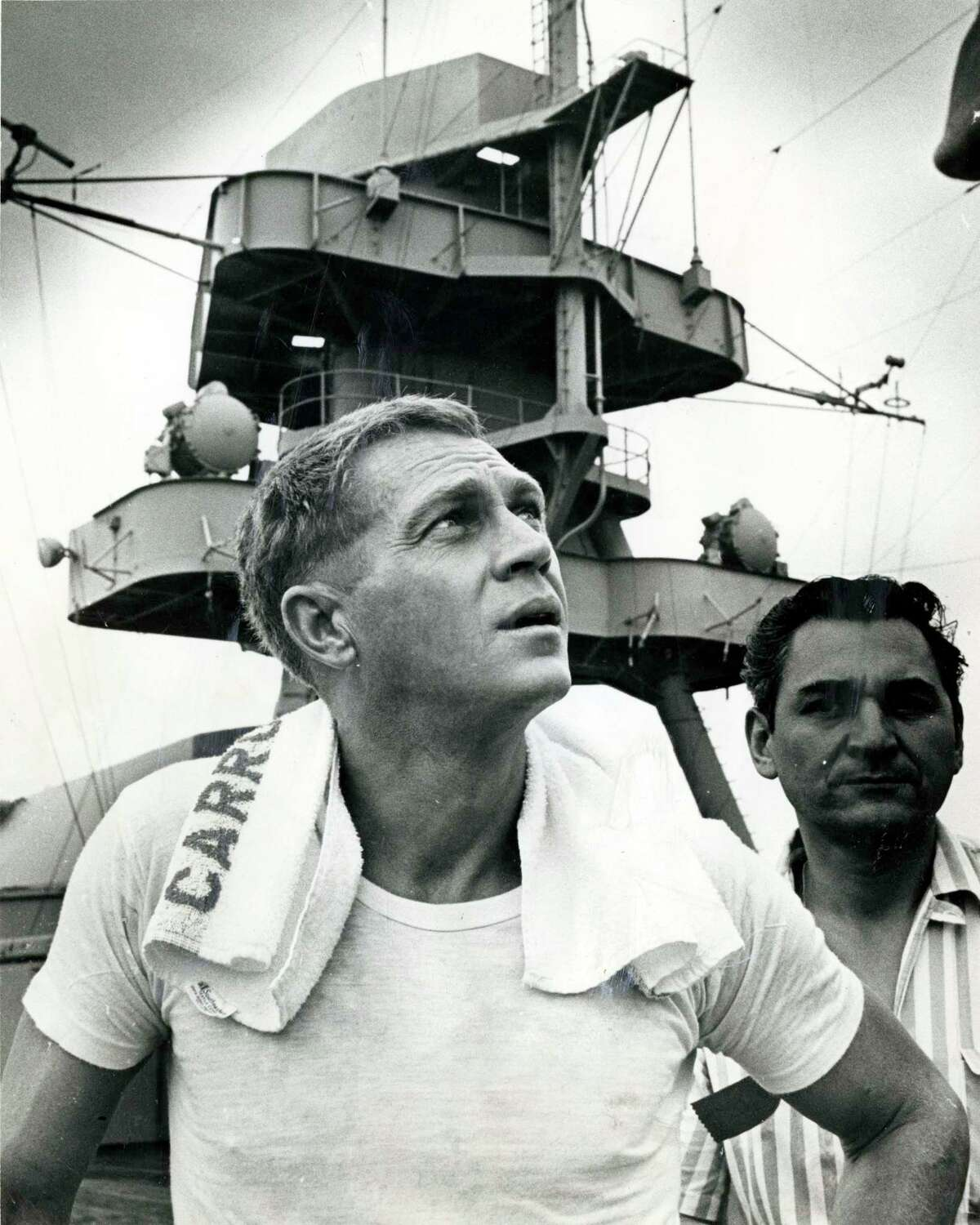 In 1966, actor Steve McQueen came to Houston to shoot scenes aboard the USS Texas for