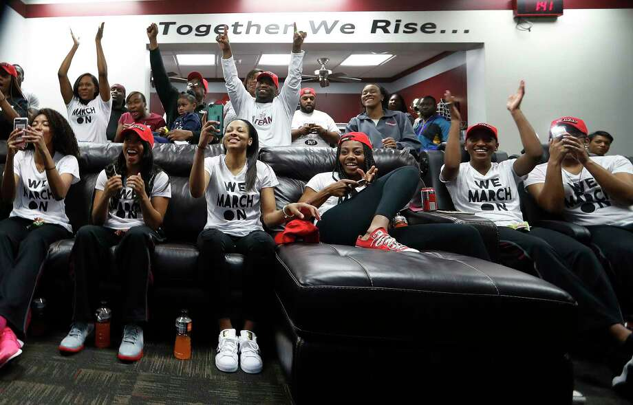 Texas Southern University women's basketball team reacts as they received their NCAA bid against Baylor, Monday, March 13, 2017, in Houston. Photo: Karen Warren, Houston Chronicle / 2017 Houston Chronicle