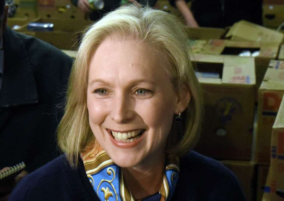 U.S. Senator Kirsten Gillibrand volunteers at the Regional Food Bank of Northeastern New York on Friday Dec. 2, 2016 in Colonie, N.Y. (Michael P. Farrell/Times Union)