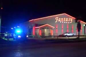 Houston police officers are investigating after a shooting left a man dead in his car early Tuesday morning, outside of a north Houston strip club. (Metro Video)