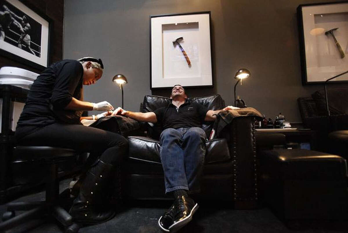 """Hammer & Nails Grooming Shop for Guys, as seen on the TV show """"Shark Tank,"""" plans to open locations throughout Texas. (Hammer & Nails photo)"""