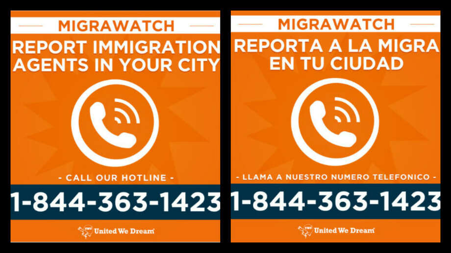 United We Dream, a coalition of immigrant organizations, created a hotline number so that callers can report immigration raids in their cities.