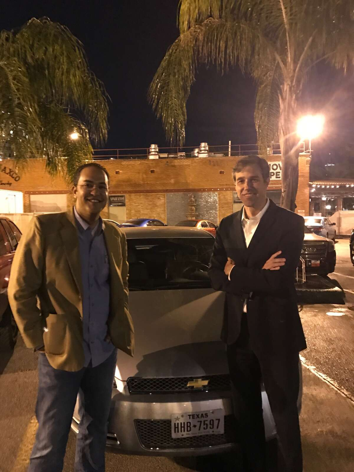 Two U.S. representatives from Texas -- Rep. Will Hurd, R-Southwest Texas, on the left, and Democratic Rep. Beto O'Rourke of El Paso. (Courtesy photo)
