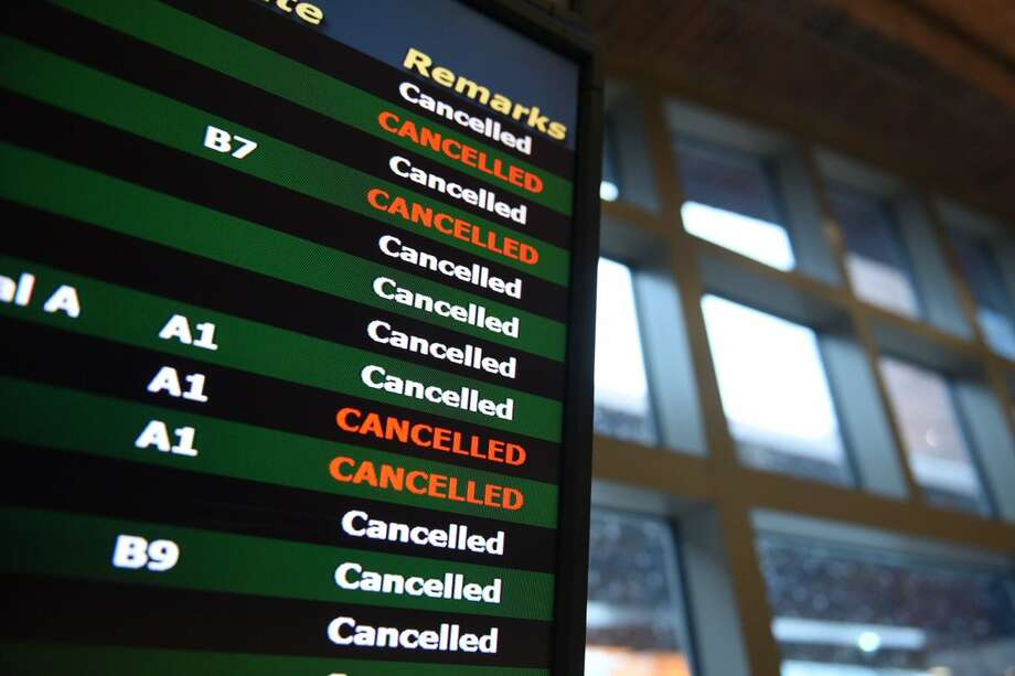 All flights at Albany International Airport were canceled on Tuesday as a snow storm dumped snow on much of the Northeast. (Will Waldron / Times Union) Photo: Will Waldron / Times Union